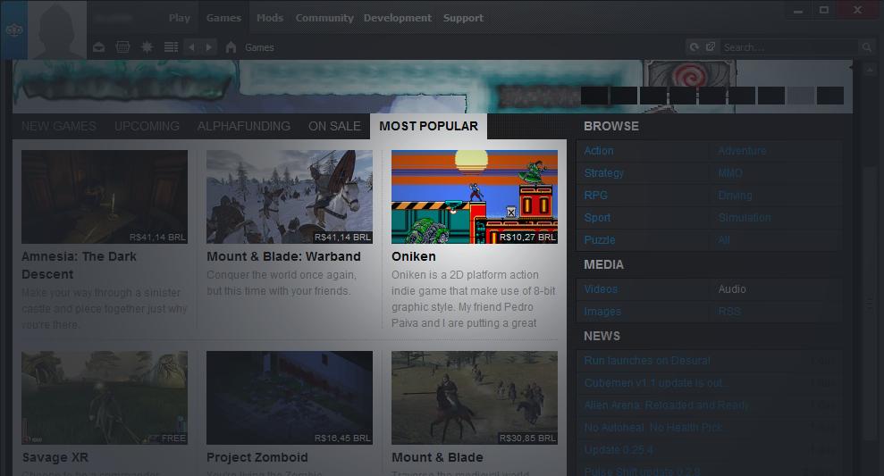 Third most popular game on Desura!