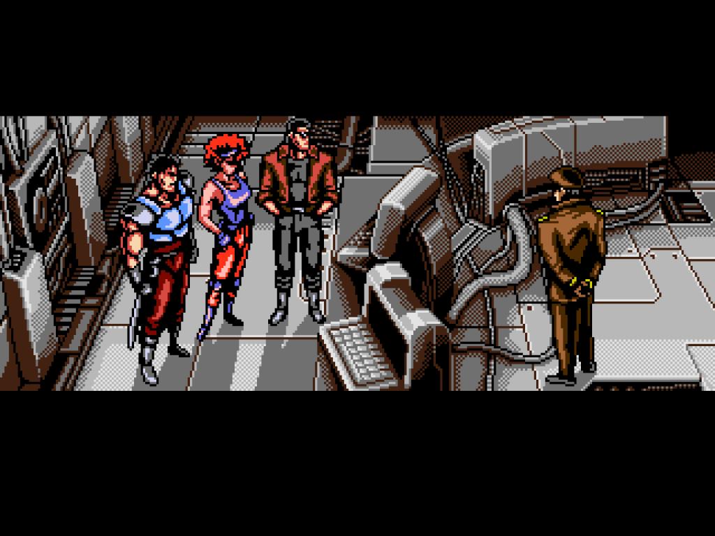 Oniken cutscene.