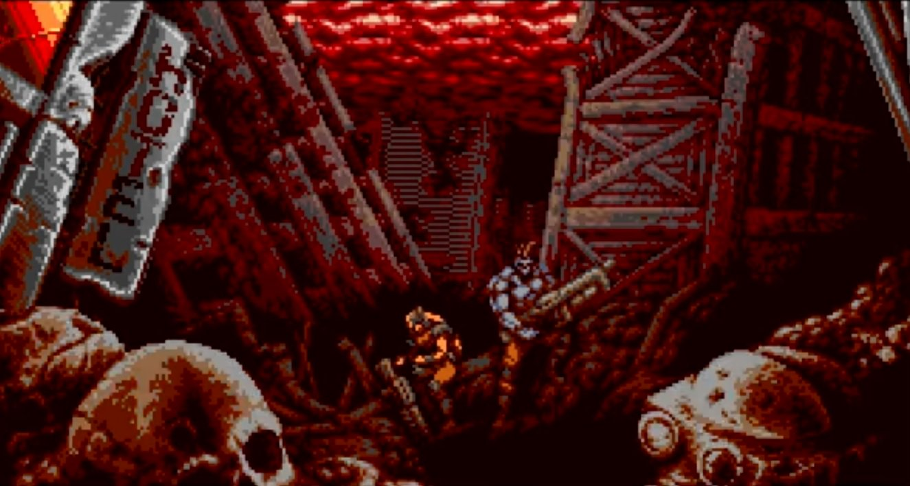 Blazing Chrome intro cutscene